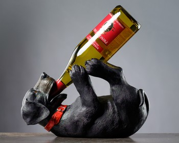 Drunkin Black Lab Wine Holder
