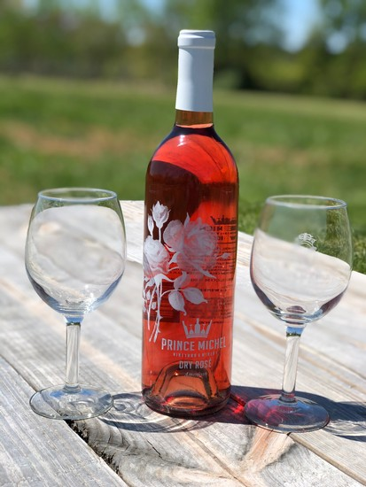 Prince Michel Limited Edition Etched Dry Rose