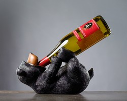 Drunkin Bear Wine Holder